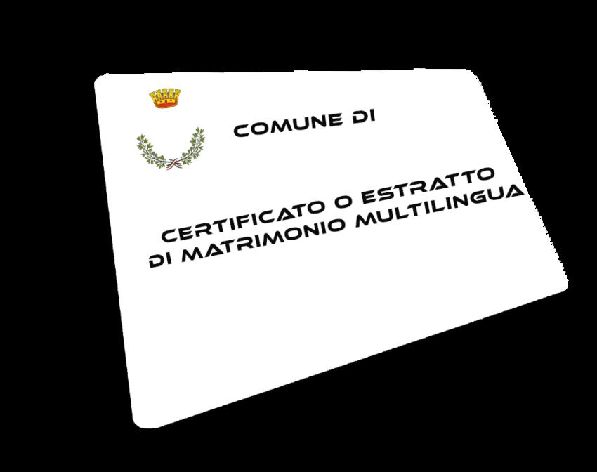 Certificato o Estratto di Matrimonio